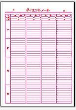 Excelで作成したダイエットノート