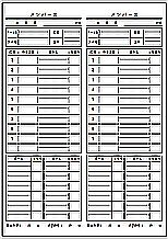 Excelで作成したメンバー表