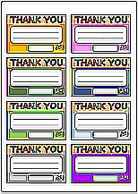 Excelで作成したサンキューカード