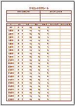 Excelで作成したダイエット目標シート