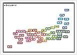Wordで作成したマラソンカード(日本地図)