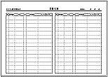 Excelで作成した名簿のテンプレート