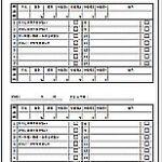 飲食店 衛生チェックシートのテンプレート(2日間記入)