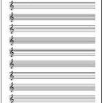 Excelで作成した五線譜