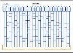 Excelで作成したあみだくじ(自動横棒)